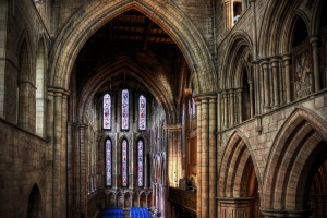 Inside Hexham Abbey (HDR)